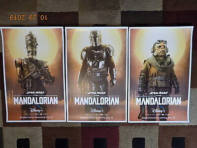 "The Mandalorian ( 11"" X 17"" ) Movie Collector's Poster Prints ( Set of 3 )"