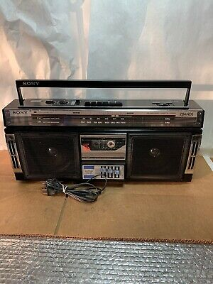 SONY CFS-270 AM/FM Stereo Cassette Boombox-3 Band EQ-Tested and Working-80's