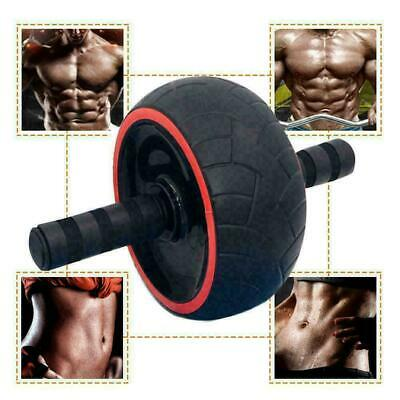 Dual Ab Wheel Roller Abdominal Exercise Abs with Knee Training Mat Re Worko Q4N2