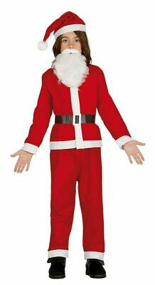 Kids Girls Boys Santa Costume Christmas Fancy Dress Childs Xmas Claus Suit Hat