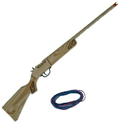 """""""Wildcat"""" Large 8-Shot Rubberband Rifle, Includes Bands, Rubberband Gun /Shooter"""
