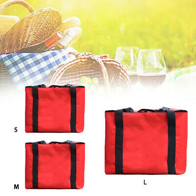Pizza Delivery Bag Food Storage Zipper Waterproof Fresh Insulated Takeaway