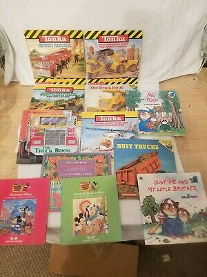 Lot of 12 Vintage Little Golden Walt Disney, Tonka, Scholastic Kids Books MIX