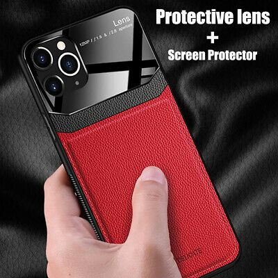 For iPhone 11 Pro Max XR XS 8 Plus Leather Hybrid Ultra Thin TPU Slim Case Cover