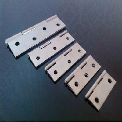 "2PCS Light Narrow stainless steel 304 Butt Door Hinges Plated 1.5""~4"""
