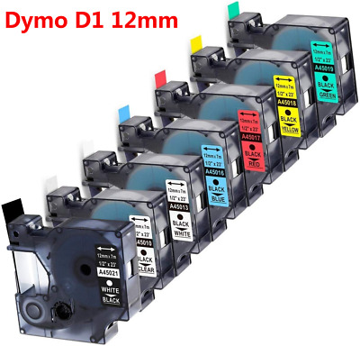 45013 45010 12mmx7m Plastic Label Tape Cassette Compatible For Letra Tag  Dymo