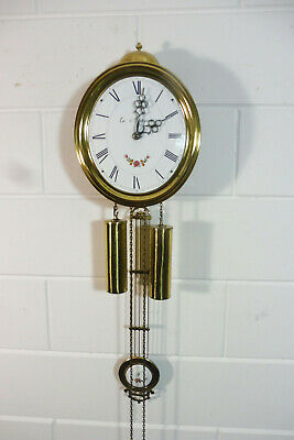 Comtoise Wall Clock Dutch Movement Vintage Old Clock