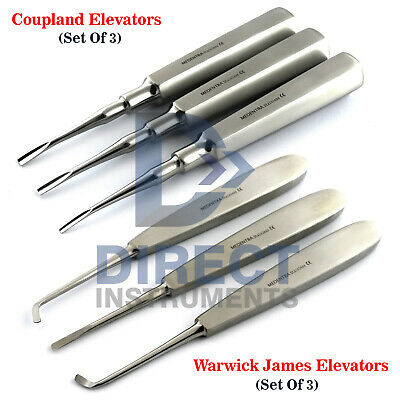 Surgical Coupland Elevators Warwick James Dental Root Extraction Implant Surgery