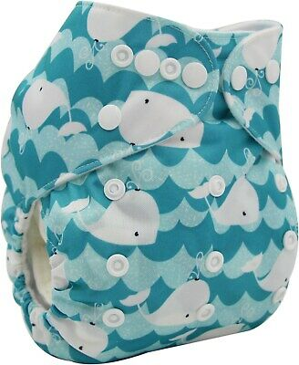 New Baby Pocket Cloth Diaper Nappy Reusable Washable Whale