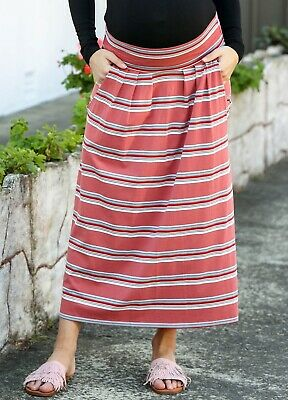 Trimester® - Cody Striped Maxi Maternity Pregnancy Skirt
