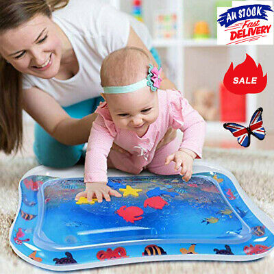 Inflatable Water Play Mat For Baby Infant Toddlers Mattress Best Fun Time XD