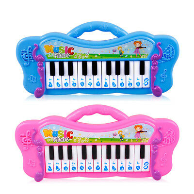 WR_ Kids Mini Electronic Piano Keyboard Musical Toy with 7 Pre-loaded Demo Songs