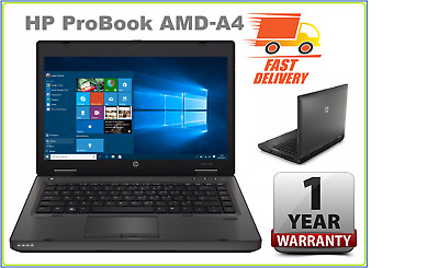 "CHEAP HP Probook 14"" AMD-4300M 8 GB RAM 5000 GB HDD DVDRW WIN10 LAPTOP"