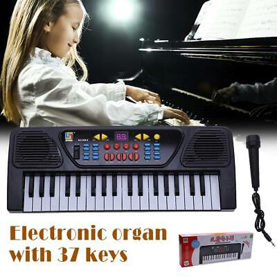 Kids Childrens 37 Key FM Radio Electronic Keyboard Piano Musical Toy Mic L&6