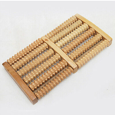 High Quality Wood Foot Massager Roller Relief Stress Massage Wooden ~PL