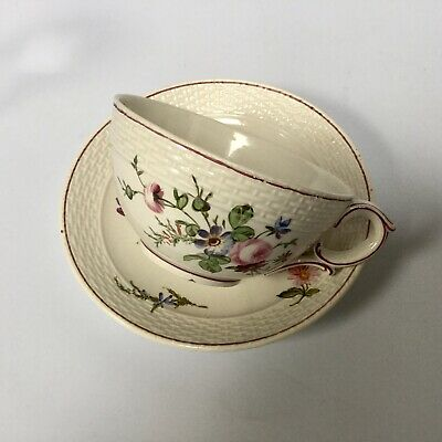 Honore Savy Antique French Faience Cup And Saucer 18th C Marseille