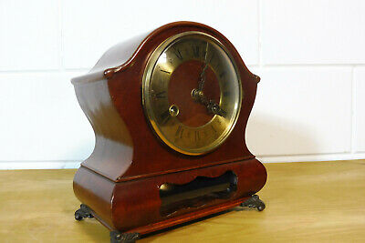 Dutch Warmink Wuba Clock Table Clock Mantel Clock 2 Bells Chime