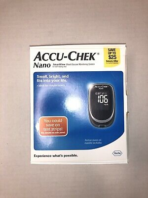 Brand New Accu-Chek Nano SmartView Blood Glucose Monitoring System Exp 1/15/22