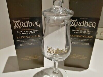 Set Of Two Ardbeg Tasting Glasses - New And Perfect In Their Original Boxes