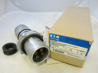 Crouse Hinds 60 Amp 4W 4P  Plug Apj6475 New In Box Mates With Ar641