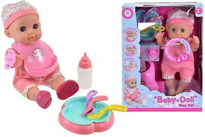 """12"""" Drink & Wet Baby Doll Inc Sound & Accessories Christmas Gift For Girls"""