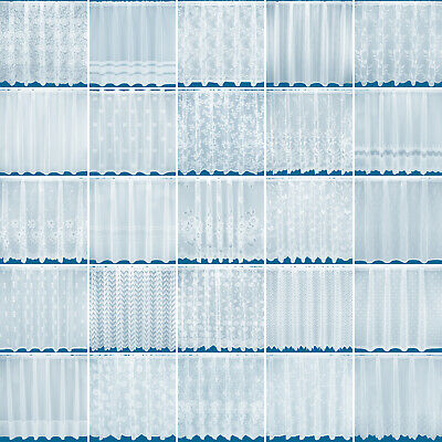 Choice of 12 Net Curtains - Free Postage - Sold By The Metre