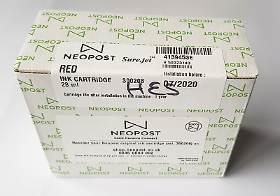 NEOPOST franking machine ink cartridge red 300208