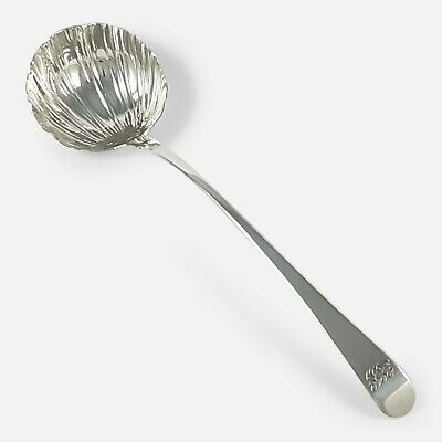 George Iii Sterling Silver Old English Pattern Soup Ladle 1771