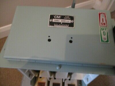 Gec Alsthom Cm Fuse Switch 100 Amp With Cm-Ut Fuse Carrier 100 Amp Ge
