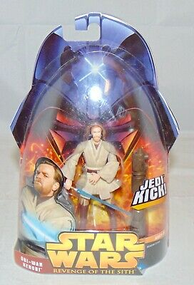 "New Star Wars Revenge Of The Sith 3.75"" Obi-Wan Kenobi Action Figure Sealed #27"