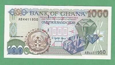 Ghana 1,000 Cedis Note P-32a  UNCIRCULATED