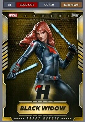 Topps Marvel Collect Digital VIP Gold Heroic Black Widow