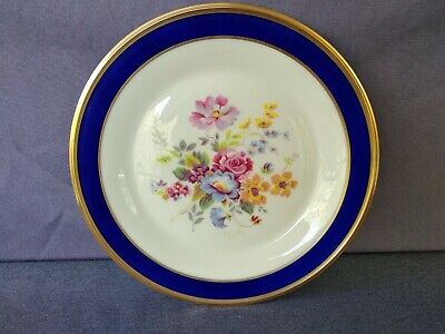 "Lenox Special COBALT BLUE & GOLD Rimmed FLORAL Center 10 3/4"" Dinner Plate"