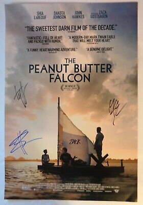 AUTOGRAPHED - 'The Peanut Butter Falcon' (Cast) Movie Poster (13.5x20) + COA