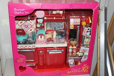 """Our Generation Gourmet Kitchen Sets for 18"""" Doll - NIB"""