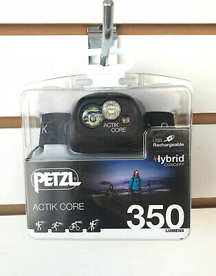 NEW 2019 Petzl ACTIK CORE 350 Lumens LED Headlamp USB Rechargeable Black