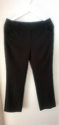 "GEORGE/Girls Black School/Formal Trousers (29"" inside leg) - Size 15-16 years"