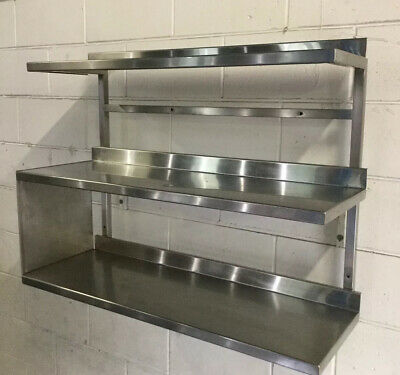Commercial Kitchen Cafe Bakery Restaurant TRIPLE Wall shelf Pot Rack 950mm