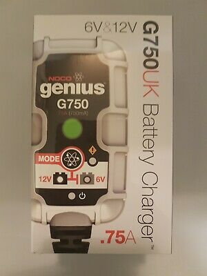 New NOCO genius G750UK Battery Charger 12v 6v .75A (750mA) Ultra Safe Motorcycle