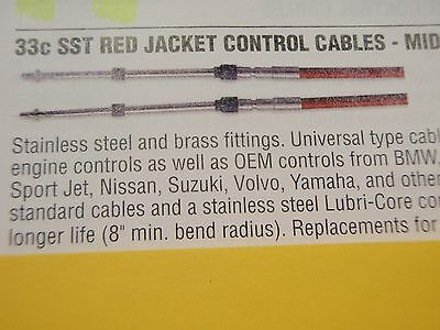 CONTROL CABLE 3300 SERIES CC23024 24FT UNIVERSAL OUTBOARD INBOARD SHIFT THROTTLE