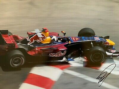 David Coulthard Hand Signed 18x12 Photo - Formula 1 Autograph - F1 Red Bull.