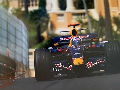 David Coulthard Hand Signed 18x12 Photo - Formula 1 Autograph - F1 Red Bull 4.
