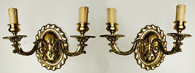 Antique French Louis XV style Pair of sconces Solid bronze