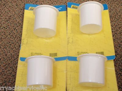 "DRINK HOLDERS SEACHOICE 2 PAC WHITE 79490 4-1//4/"" HOLE PLASTIC BOATING GIFTS BOAT"