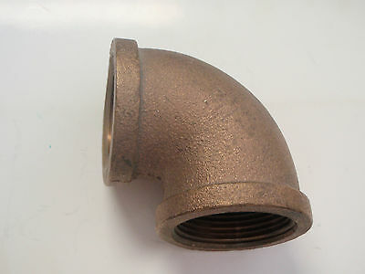 """BRONZE ELBOW 90 DEGREE 1//2/"""" INCH PIPE 38-44163 BOAT HARDWARE STREET ELBOW"""