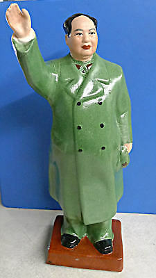 "Chinese Cultural Revolution Chairman Mao Porcelain Statue 11""h"