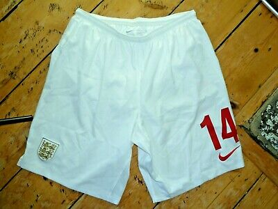 ENGLAND FOOTBALL SHORTS #14 shorts lined SWIMMING GOLF Size:L