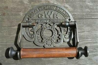 GWR Victorian Toilet Roll Holder Black Grey Iron Unusual Vintage Design Novelty