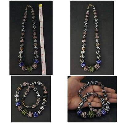 Amazing Charming Unique Necklace With Old Mosaic Glass #H76