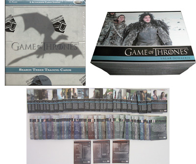 Game Of Thrones Saison 3 Trading Card Collection Complète Lot x 98 Carte + Boite